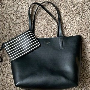 Reversible Kate Spade tote with Clutch